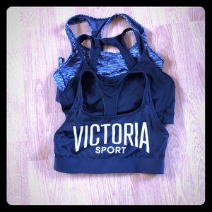3 Victoria's Secret SPORT bras size L